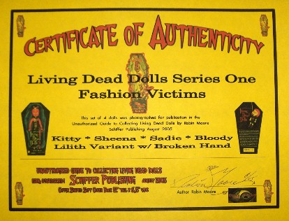 Authors Certificate of Authenticity